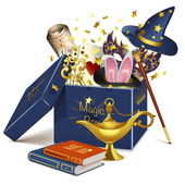 Vector Magic Box — Stock Vector