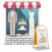 Vector Wedding Boutique — Stock Vector
