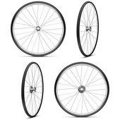 Vector Bicycle Wheels — Stock Vector