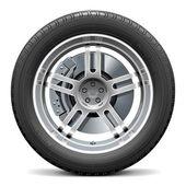 Vector Car Wheel with Disk Brake — Stock Vector