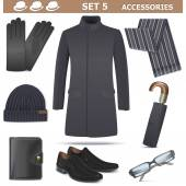Vector Male Accessories Set 5 — Stock Vector