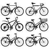 Векторные пиктограммы велосипедов — Cтоковый вектор