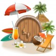 Vector Beach Bar — Stock Vector #78707220