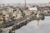 Kiev, embankment on the Dnieper River — Stock Photo