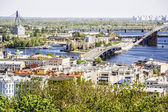 Kiev, Podolsk district, and the Dnipro River — Stock Photo