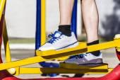 Toe sneaker deals simulator — Stock Photo