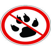Pet can not defecate in the city — Stock Vector