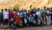 Cycling competition winners - trophies medals — Stok fotoğraf