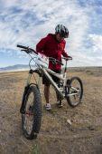 Bicicleta de montaña carrera maratón — Foto de Stock