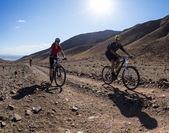 Race marathon mountain bike — Stock Photo