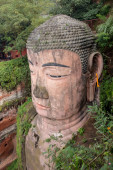 The largest stone Buddha in China — Stock Photo