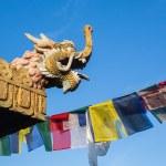 Buddhist stupa - Buddhist place of worship — Stock Photo #72594047