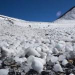 Snow covered beautiful mountain peaks — Stock Photo #74187763