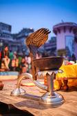 Oświetlony, dekoracyjne lampy Diwali. — Zdjęcie stockowe