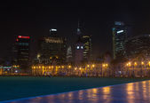 The city square in the evening — Stock Photo