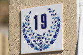 Rhodes,Greece. House number — Stock Photo