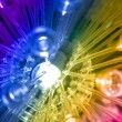 Colourful science and technology background led rainbow light — Stock Photo #61098611
