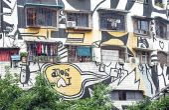 Huangjueping Graffiti Street — Stock Photo