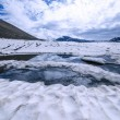 Panoramic view of the frozen lake — Stock Photo #62246175