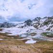 Panoramic view of the frozen lake — Stock Photo #62246365
