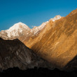 Sunrise over mountain peak — Stock Photo #71368495