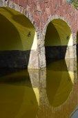 Part of a decorative bridge sunlit — Stock Photo