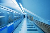 Arrival of the metro train. — Stock fotografie