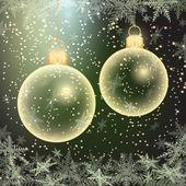 Winter holiday illustration of christmas balls — Stock Vector