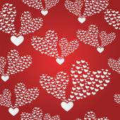 Abstract seamless background to the Valentines day. — Stock Vector
