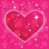 Forma de coração no fundo colorido para o dia dos namorados. — Vetor de Stock