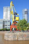 Embankment of Puerto Madero district, Buenos Aires. — Stock Photo