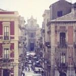 Mini market on the morning street of Catania. — Stock Photo #61447113