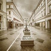 Wet evening city street. — Stock Photo
