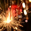 Three burning christmas sparklers. — Foto de Stock   #63078257