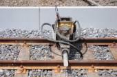 Jackhammer on the railway. — Zdjęcie stockowe