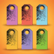 Set of the colorful tags on orange background. — Stock Vector #68876651