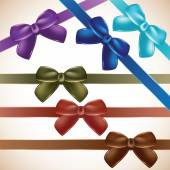 Set of colorful gift bows.  — Stock Vector