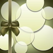 Cover of the present box green background. — Vetor de Stock