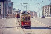 Old vintage trams. — Stock Photo