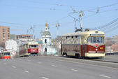 Vintage trams. — Stock Photo