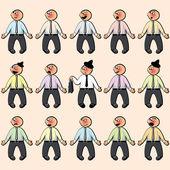 Set of the men. — Stock Vector