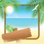 Sand beach background. — Stock Vector #78810628