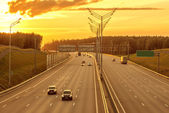 View of the new highway. — Stock Photo