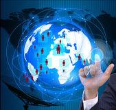 El concepto social de network.internet y telecomunicaciones — Foto de Stock