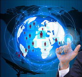 The social network.Internet and  telecommunication concept — Stock Photo