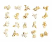 Pop corn collection isolated on white background — Stock Photo