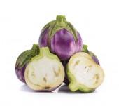 Eggplant on white background — Stock Photo