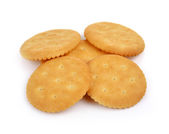 Cracker isolated on  over white background  — 图库照片