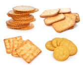 Cracker on white background — Stock Photo