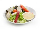 Fresh vegetable salad isolated on white background — Stock Photo